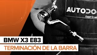 Montaje Rótula barra de dirección BMW X3: vídeo manual