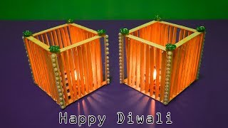 How to make Light for Diwali | Cool popsicle stick projects | Diwali_Decoration | दीवाली की सजावट