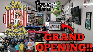 grand opening of psycho turtle collectibles tour of our new amazing store