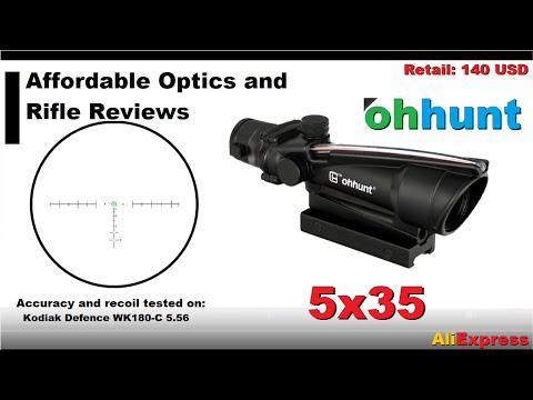 Ohhunt 5X35 Acog Style Optic Review:      A More Affordable ACOG Alternative?