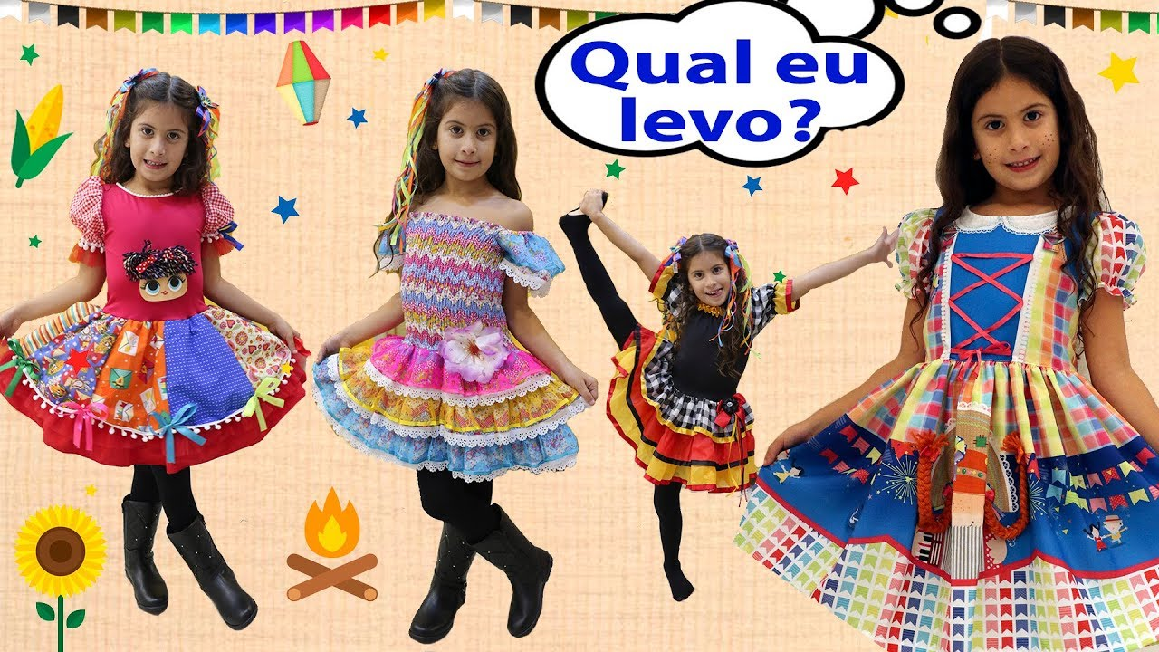 a45223858c Maria Clara comprando a fantasia de caipira 2018 (Festa Junina ...