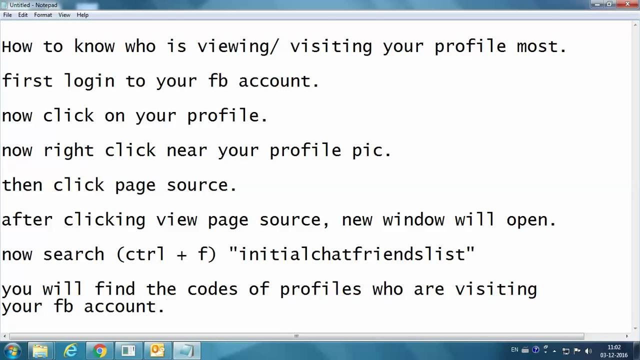 HOW TO SEE WHO VIEWED / VISITED YOUR FACEBOOK PROFILE THE MOST - FRIEND OR  NON FRIENDS - LATEST