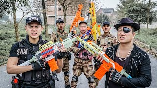 LTT Game Nerf War : Warriors SEAL X Nerf Guns Fight Crime group Braum Crazy Bad Guys Hunter