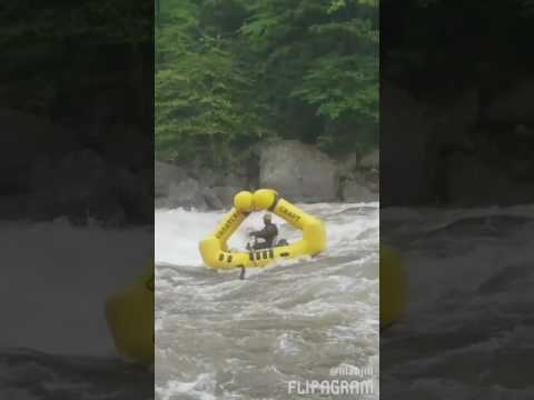 Jon George surfing Big Nasty Rapid on the Cheat River at 5.5 foot