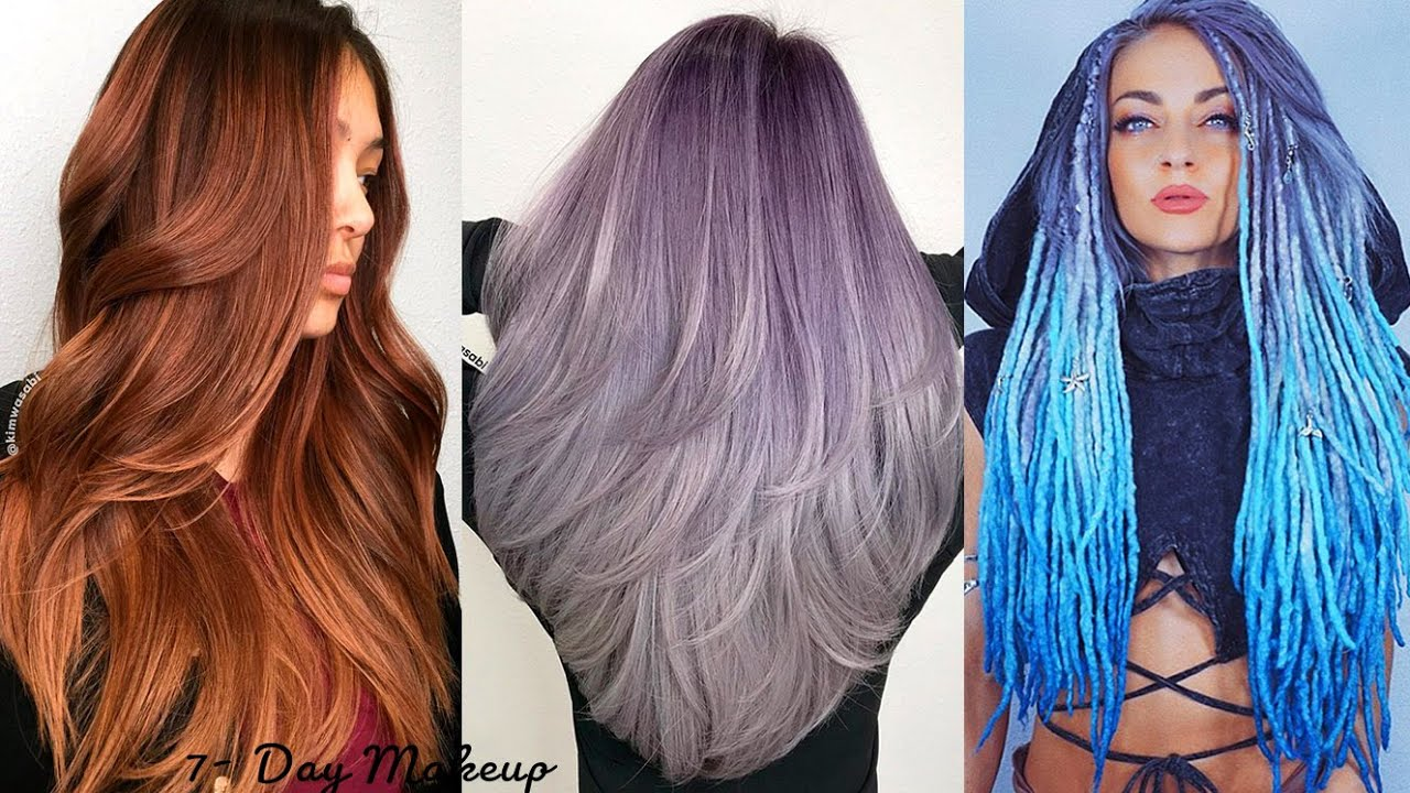 Hair Color and Haircuts Transformation   Stunning Women Hairstyles Ideas   7-Day Makeup