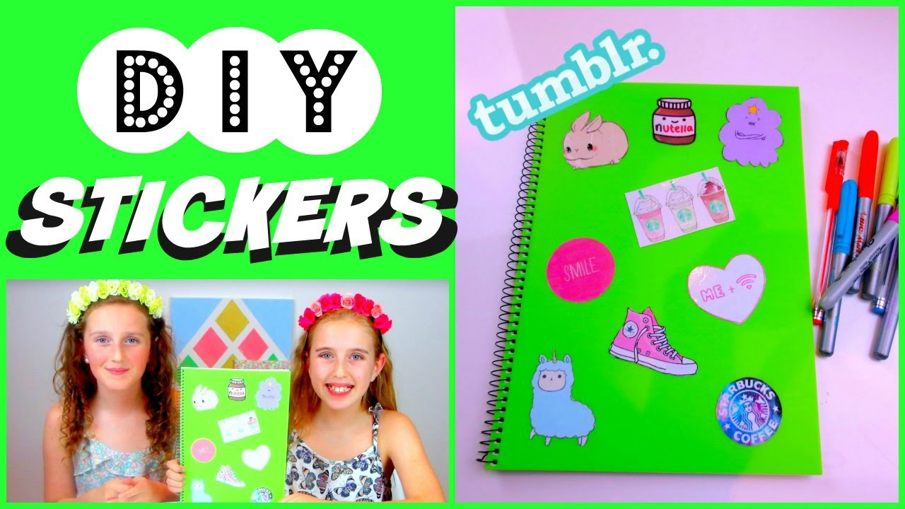 DIY STICKERS ♥ EASY To Make ♥ Laptop Or Books   YouTube