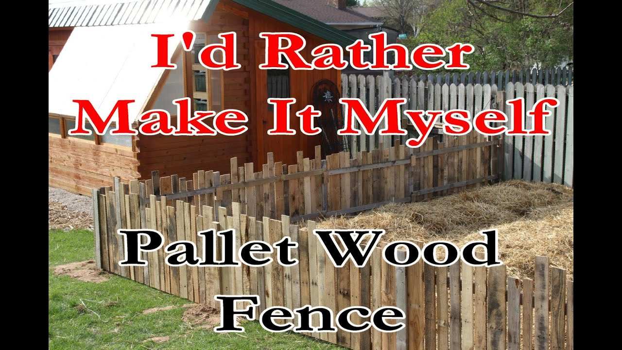 Build A Garden Rabbit Fence Using Pallet Wood And