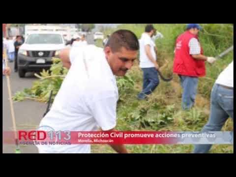 VIDEO Protección Civil Morelia promueve acciones preventivas por temporada de lluvias