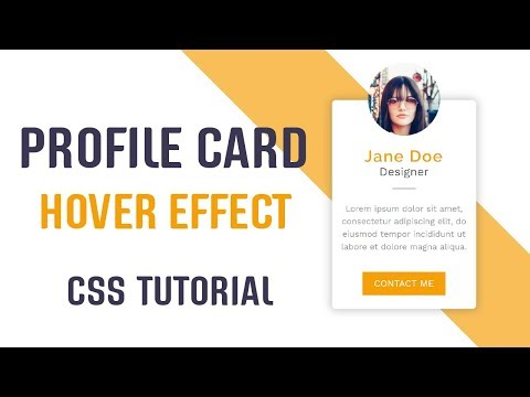Profile Card With Cool Hover Effect | CSS Profile Card |  CSS Tutorial thumbnail