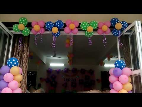 Balloon Decoration Services For Birthday Events Shop And House Decorations Mall Activity All Even