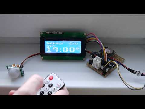MAKE AN LCD CLOCK THAT DISPLAYS TEMP AND