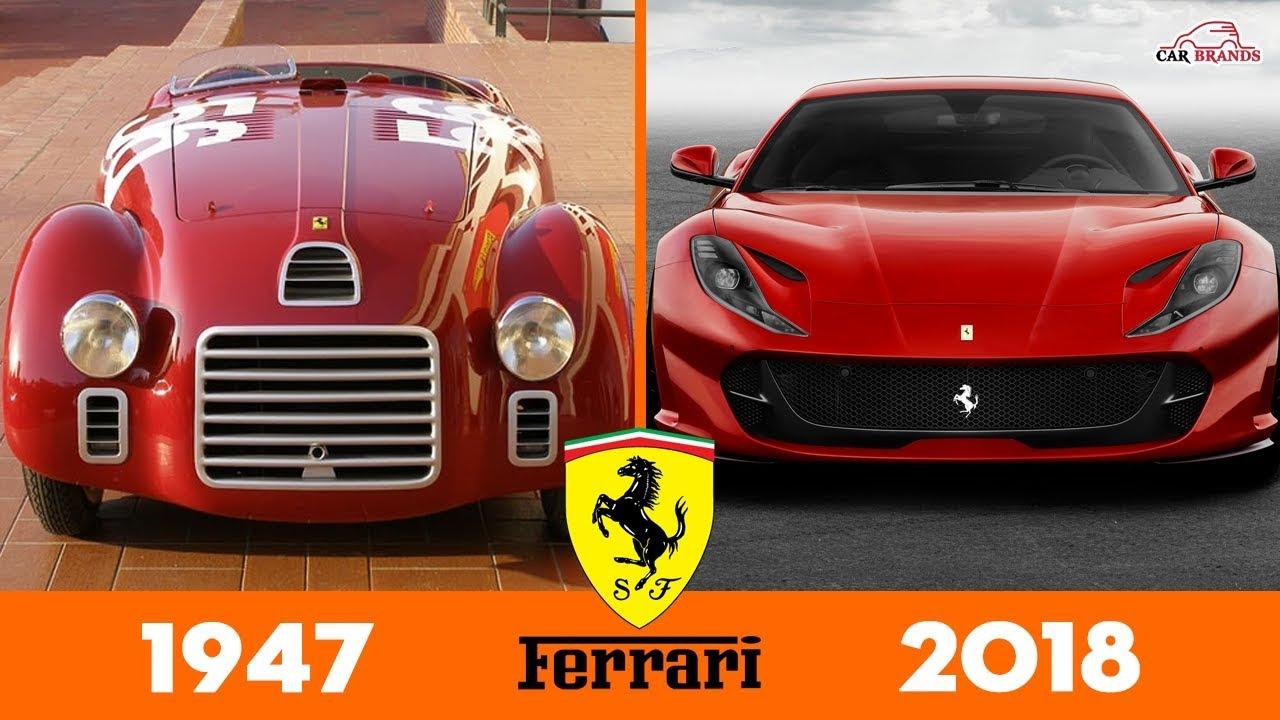 Evolution Of Ferrari 1947 2018 Cars Evolution Timeline Youtube