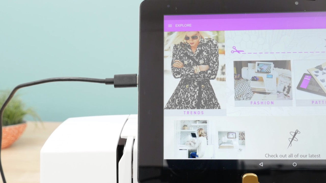 How to Use the WIFI in the Spiegel 60609 Sewing Machine
