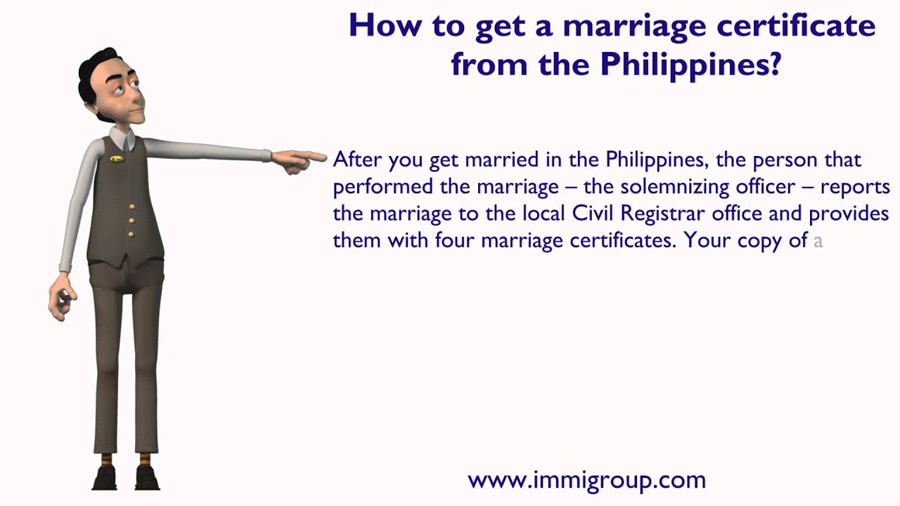 How To Get A Marriage Certificate From The Philippines Youtube
