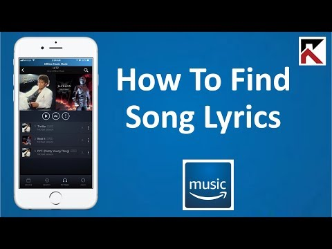 How To Find Song Lyrics Amazon Music