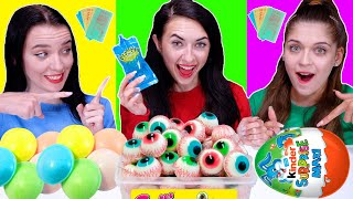 ASMR Most Popular Food Challenge (Chocolate Candy, Ufo Wafers, Gummy) | Eating Sounds LiLiBu