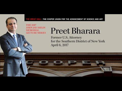 Preet Bharara - 2017 John Jay Iselin Memorial Lecture Series