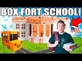 BOX FORT HIGH SCHOOL!! 📦🚌 Gym Class, Dodgeball, Detention & More!