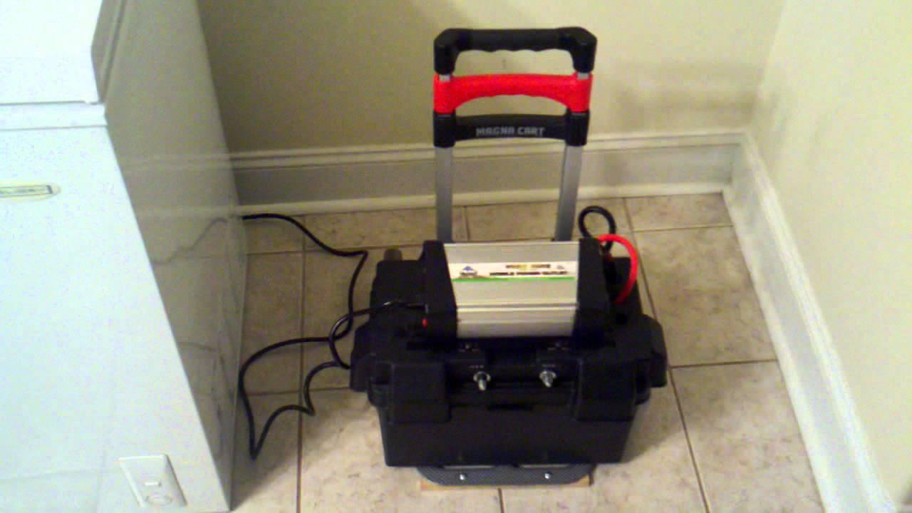 DIY - Portable Solar Power - The Practical Freezer Test - PART 1 - YouTube