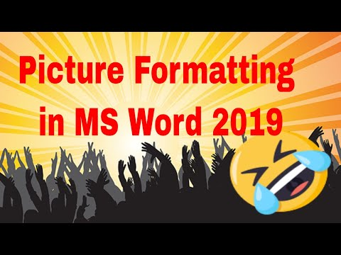 Insert & Format Picture In MS Word With New Features | MS Word 2019 | Edutech Solution