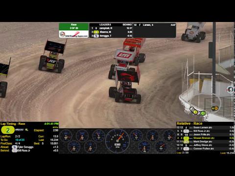 305 Sprint Car 7th to 4th - Eldora Speedway