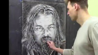 Портрет Леонардо Ди Каприо - Выживший - Возвращенец - Leonardo DiCaprio