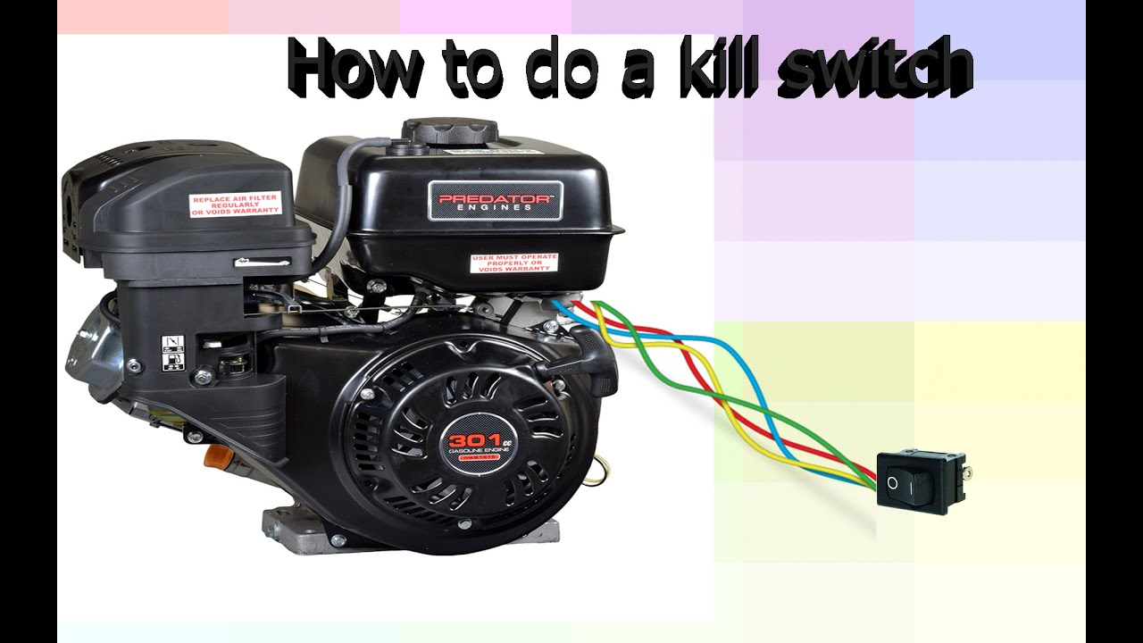push mower wiring diagram lpg changeover switch how to install a kill on predator motor/ go kart - youtube