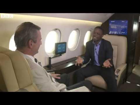 Inside a Nigerian private jet