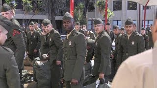 After Boot Camp – Students Arrive For Marine Combat Training