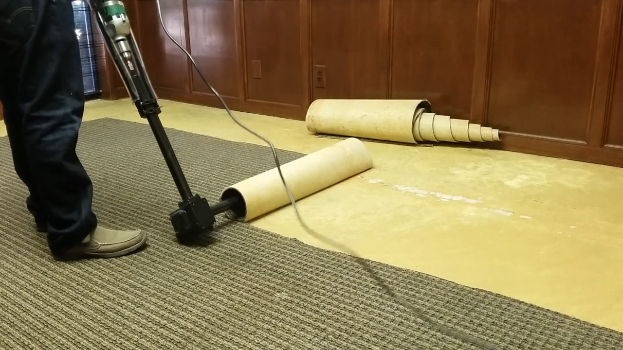 The Best And Easiest Carpet Tool Carpet Machine Glued Down