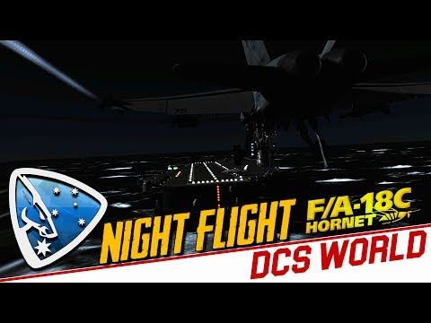 DCS World 2.5: Night Flight (F/A-18C Hornet Alpha)