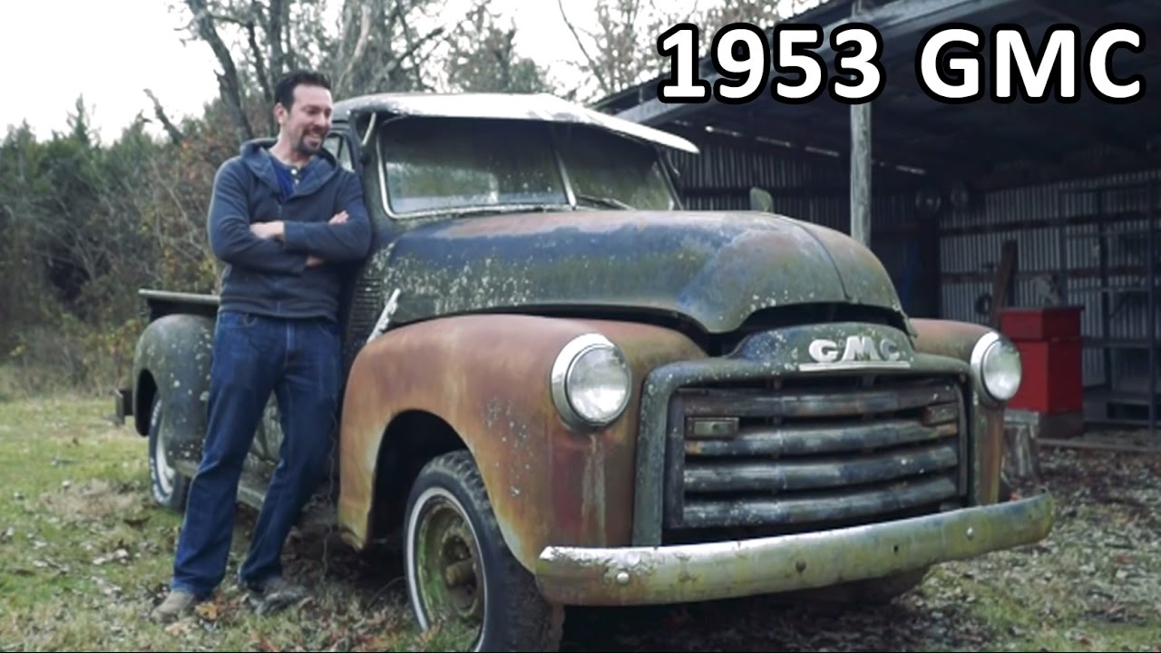 medium resolution of rusty 1953 gmc truck