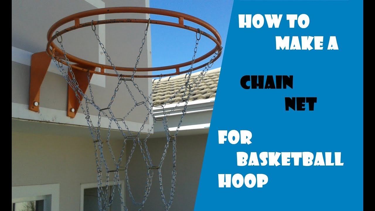 How to make a chain net for basketball hoop youtube for How to build a basketball goal