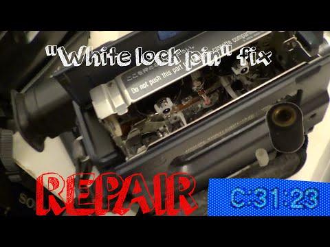 "REPAIR Sony Handycam C:31:23 Error Message (""White Lock Pin"" Fix)"