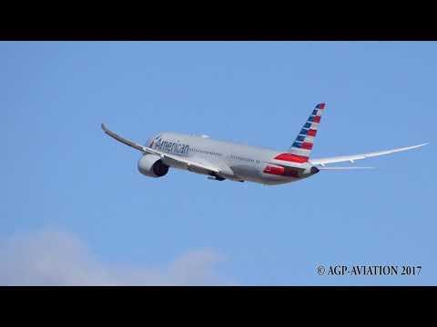 Madrid Airport Takeoffs 787 A340 A330 A380  36L