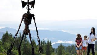 Ульяна и Захар нашли лесного Человека forest monster