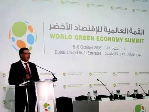 Adnan Amin, Director General of IRENA talking at World Green Economy Summit press conference