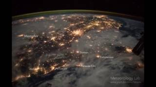Cities at night from space (tagged)