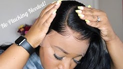 This Hairline, No Glue Needed  🙌🏾🙌🏾🙌🏾| Pre-Plucked & Pre-Bleached Knots| WowEbony.Com