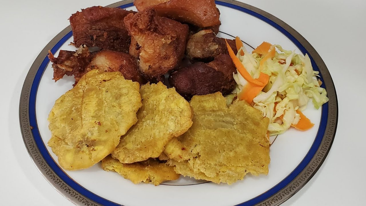"""EASIEST HAITIAN GRIOT WITH FRIED PLANTAIN AND """"PIKLIZ ..."""