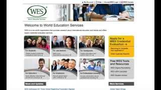Check the Status of Your WES Evaluation