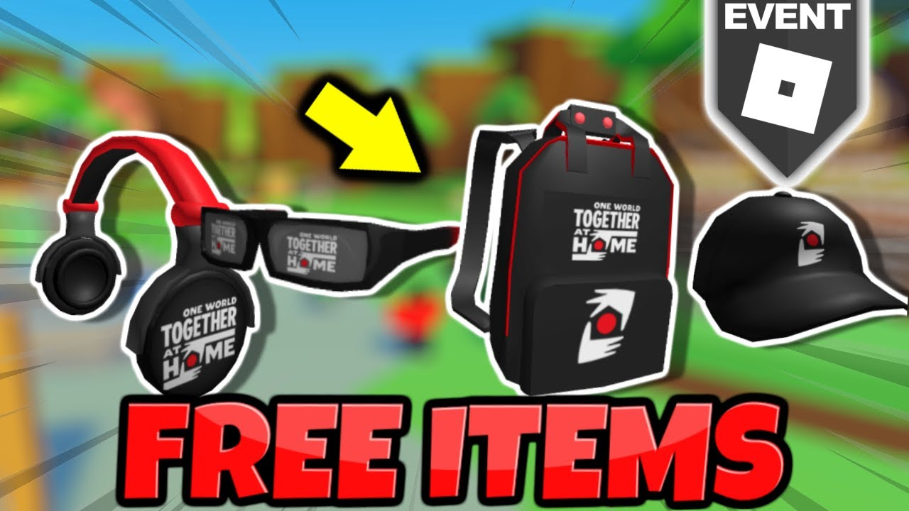 *NEW* FREE ITEMS ON ROBLOX Together at Home Event YouTube