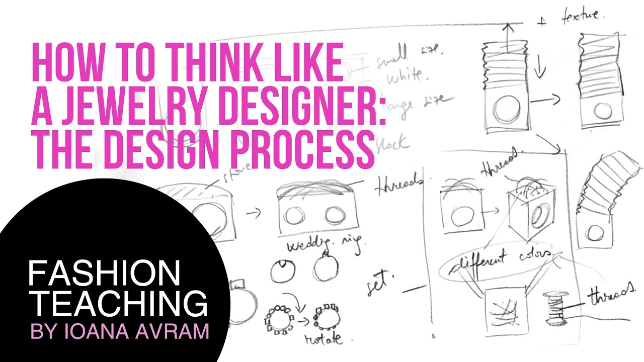 How To Think Like A Jewelry Designer The Design Process Youtube