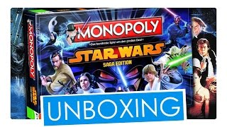 Star Wars Saga Edition Monopoly Unboxing | Winning Moves