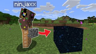Minecraft mais chaque Bloc que je pose est Aléatoire..