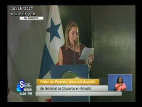 Sertv Presidente Juan Carlos Varela entrega orden de proceder para construccion de Puertos de Crucer