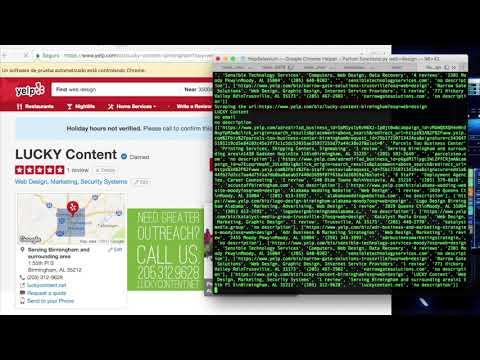 Yelp Scraper: Python + Selenium in any platform