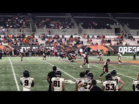 Oregon State Beavers - Beaver scrimmage. Defense looks much improved!!