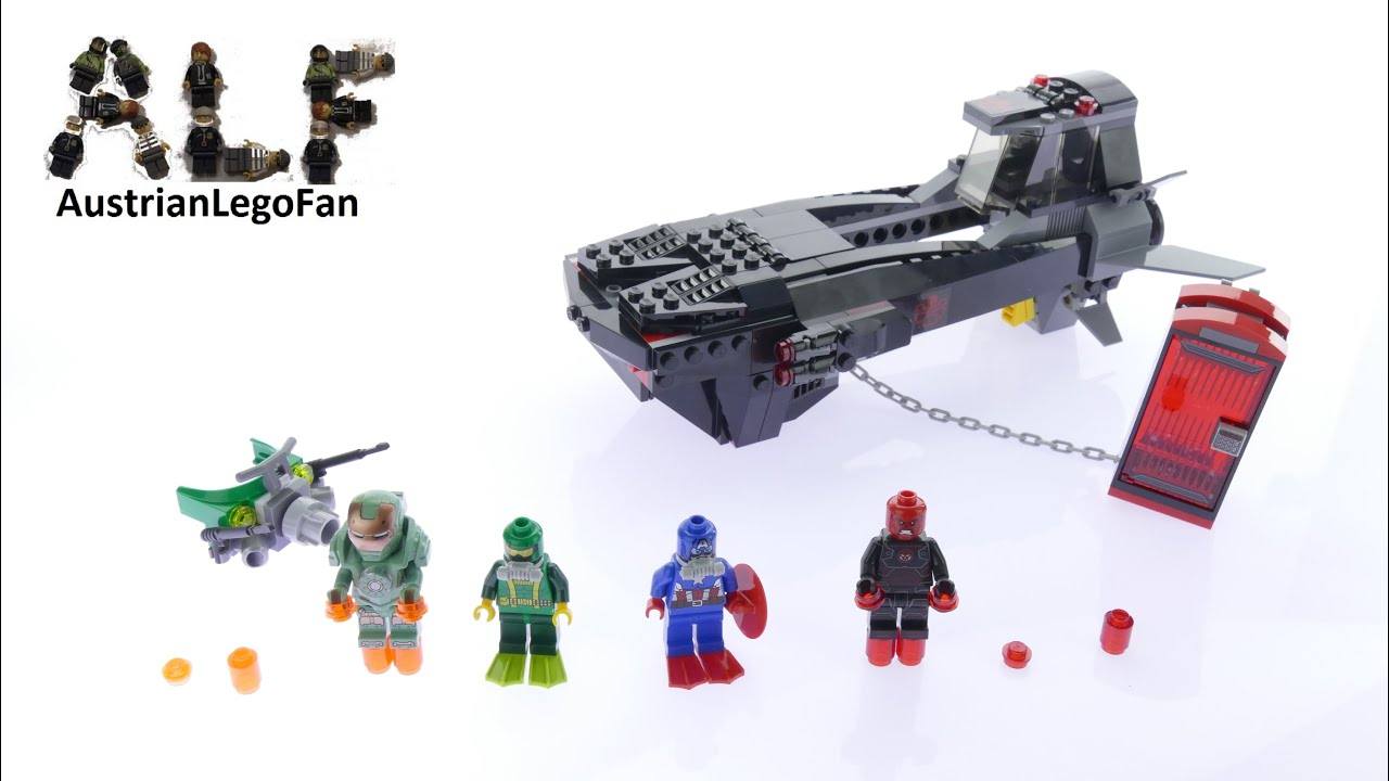 Lego Super Heroes 76048 Iron Skull Sub Attack - Lego Speed ...
