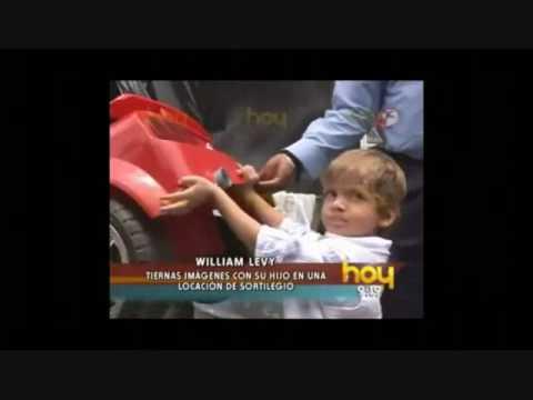 William Levy con su hijo en locacion de Sortilegio